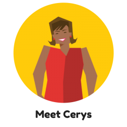 Meet Cerys - CAV Characters - Cardiff and Vale University Health Board