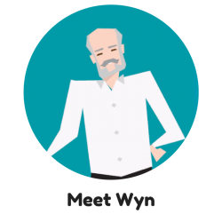 Meet Wyn - CAV Characters - Cardiff and Vale University Health Board
